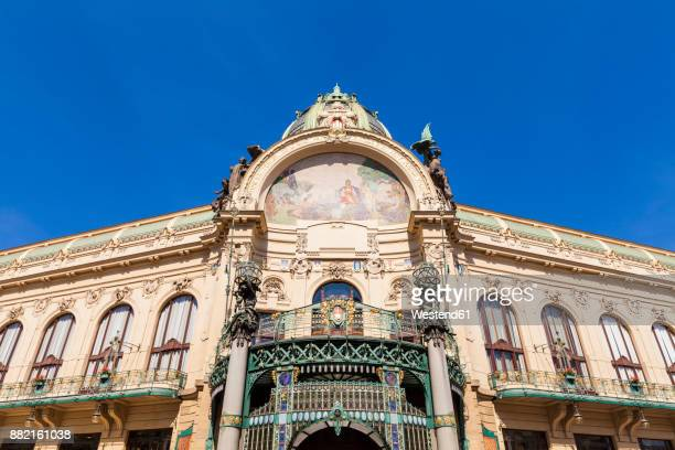 czech republic, prague, parish hall - art nouveau stock pictures, royalty-free photos & images