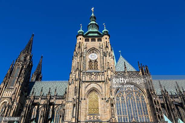 czech republic, prague, st. vitus cathedral interi - st vitus's cathedral stock pictures, royalty-free photos & images