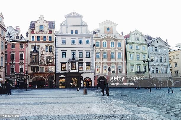 Czech Republic, Prague, Town square view