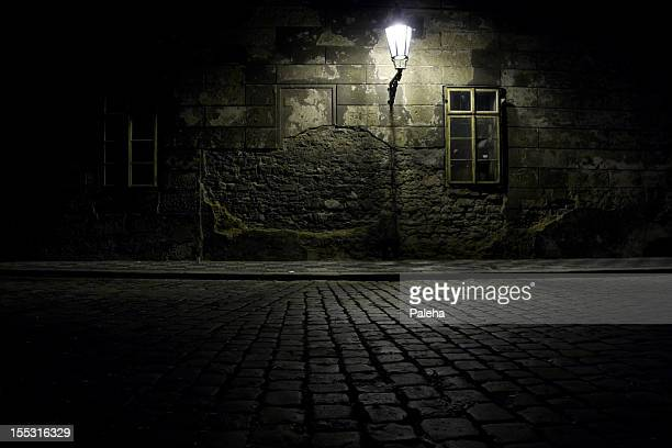 czech republic. praha. dark alley. - dark stock pictures, royalty-free photos & images