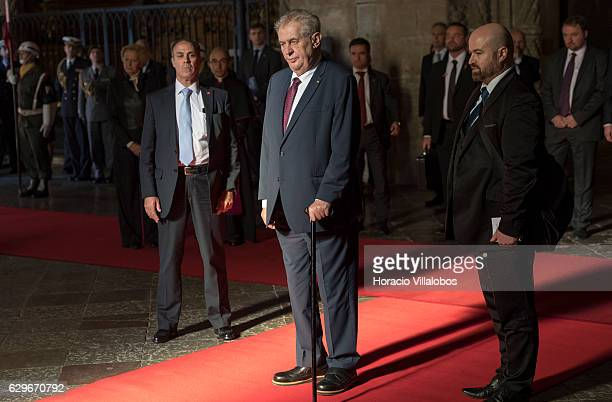 Czech Republic President Milos Zeman pays homage to Luis de Camoes Portugal's and the Portuguese language's greatest poet before his tomb in the...