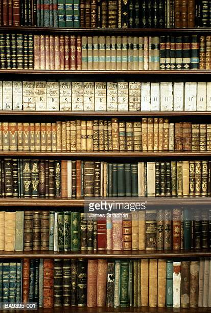 Czech Republic, West Bohemia, Tepla Monastery library bookshelves