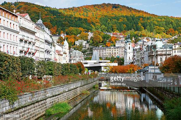 czech republic-karlovy vary - karlovy vary stock pictures, royalty-free photos & images