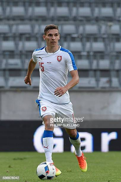 Czech Republic's David Pavelka plays the ball during the international friendly football match of Russia vs Czech Republic on June 1 2016 in...