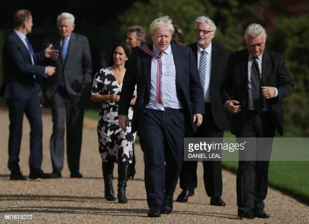 Czech Republic's Deputy Foreign Minister Ivo Sramek Romania's Foreign Minister Teodor Melescanu British lawyer and Boris Johnson's wife Marina...