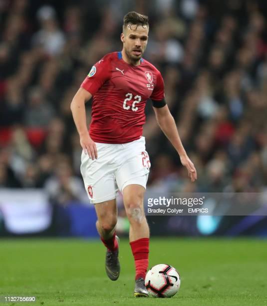 Czech Republic's Filip Novak in action England v Czech Republic - UEFA Euro 2020 Qualifying - Group A - Wembley Stadium .