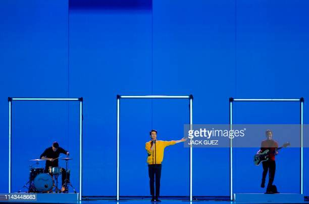 Czech Republic's Lake Malawi rehearses ahead of the 64th edition of the Eurovision Song Contest in the Israeli coastal city of Tel Aviv on May 13 2019