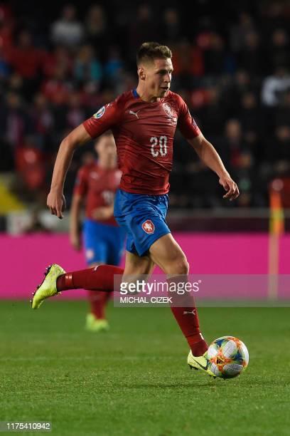Czech Republic's Lukas Masopust plays a ball during the UEFA Euro 2020 qualifier Group A football match Czech Republic and England on October 11 2019...