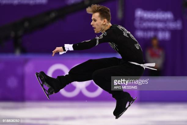 TOPSHOT Czech Republic's Michal Brezina competes in the men's single skating short program of the figure skating event during the Pyeongchang 2018...