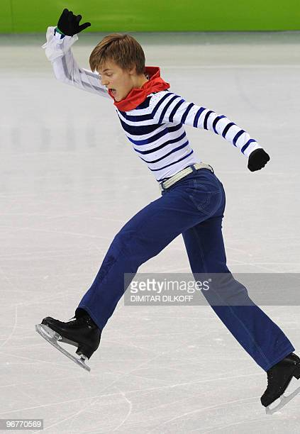 Czech Republic's Tomas Verner competes in the men's 2010 Winter Olympics figure skating short program at the Pacific Coliseum in Vancouver on...