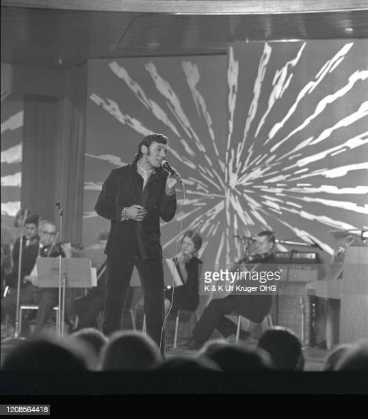 Czech singer Karel Gott performs at the Festival Rose D'Or Montreux Switzerland 1967