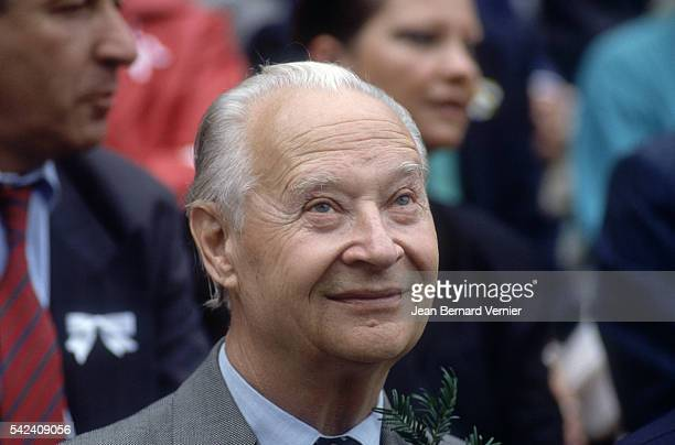 Czech statesman Alexander Dubcek is the guest of honor at a ceremony in Rutli Switzerland celebrating the 700th anniversary of the Swiss...
