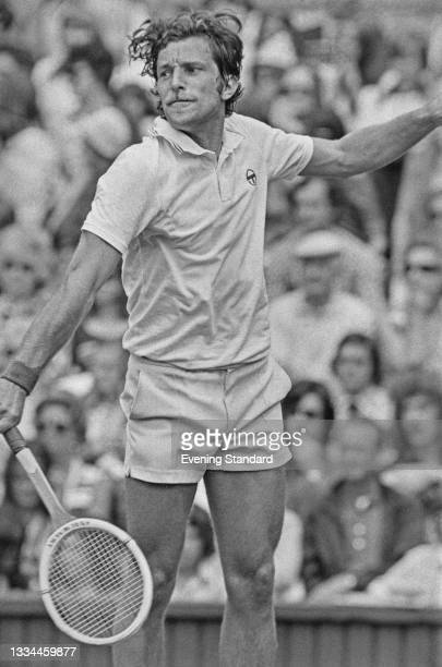 Czech tennis player Jan Kodes takes part in the 1974 Wimbledon Championships in London, UK, 27th June 1974. He reached the quarterfinals of the Men's...