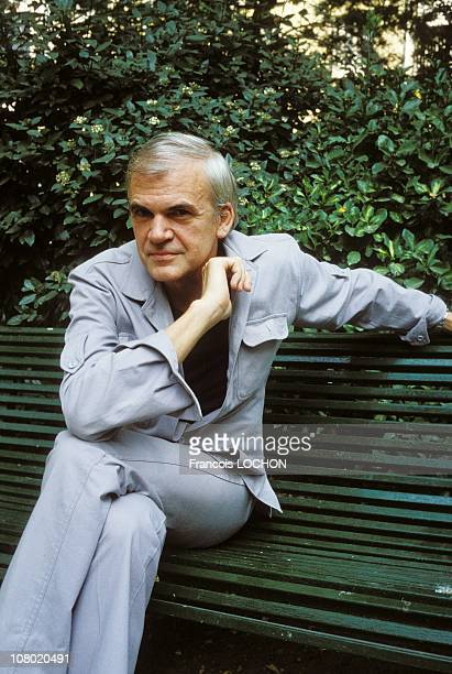 Czech Writer Milan Kundera poses during a portrait session on August 21984 in ParisFrance