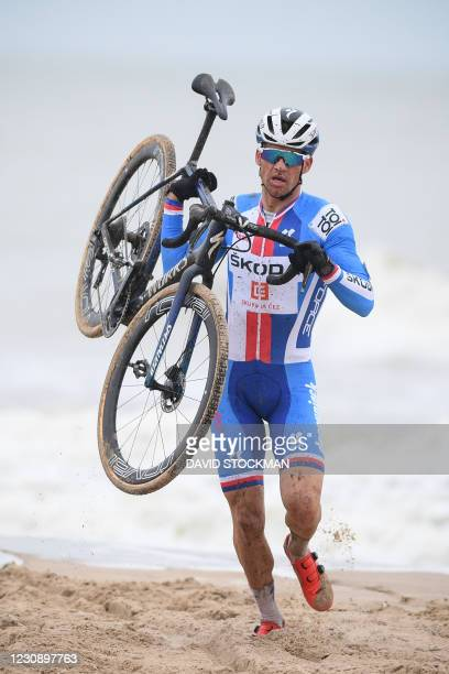 Czech Zdenek Stybar pictured in action during the men's elite race at the UCI Cyclocross World Championships, in Oostende, Belgium, Sunday 31 January...