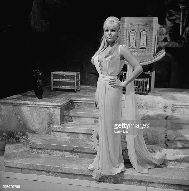 CzechAmerican actress Olga Schoberová on the film set of 'The Vengeance of She' at Elstree Studios 24th July 1967
