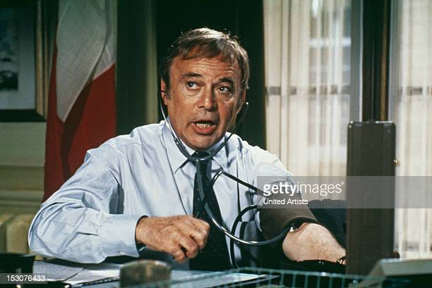 Czechborn actor Herbert Lom as Chief Inspector Dreyfus in the film 'Trail of the Pink Panther' 1982