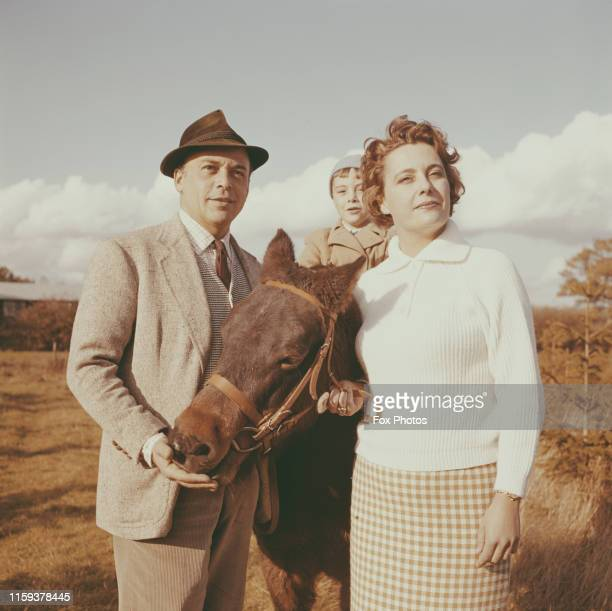 Czechborn British actor Herbert Lom with his family on their farm January 1962