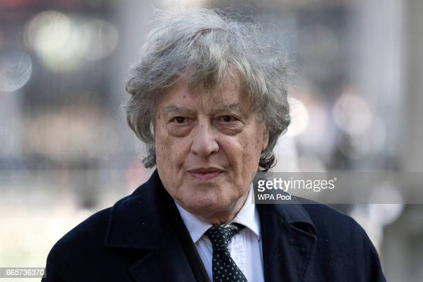 Czechborn British playwright and screenwriter Tom Stoppard arrives for a Service of Thanksgiving for the life and work of Lord Snowdon at Westminster...