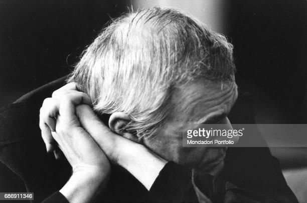 Czechborn French writer Milan Kundera in Milan Milan 1980s