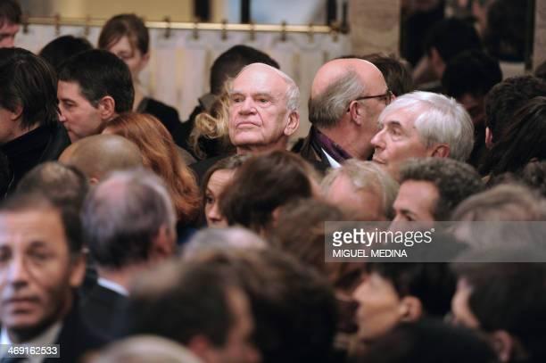 Czechborn writer Milan Kundera attends the 20th anniversary party of the French philosopher BernardHenri Levy's review La regle du jeu on November 30...