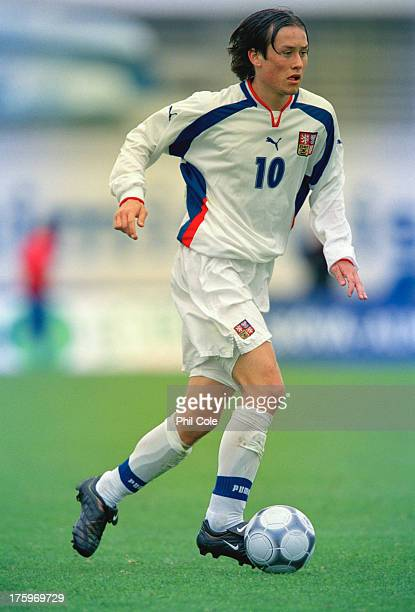 Czechoslovak footballer Tomas Rosicky on the field during a World Cup qualifying match against Iceland at Laugardalsvollur, Reykjavik, 1st September...