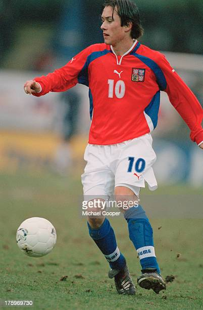 Czechoslovak footballer Tomas Rosicky on the field during a World Cup qualifying match against Northern Ireland at Windsor Park, Belfast, 24th March...