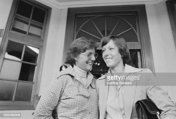 CzechoslovakAmerican professional tennis player and coach Martina Navratilova with her mother Jana Navratilova UK 27th June 1979