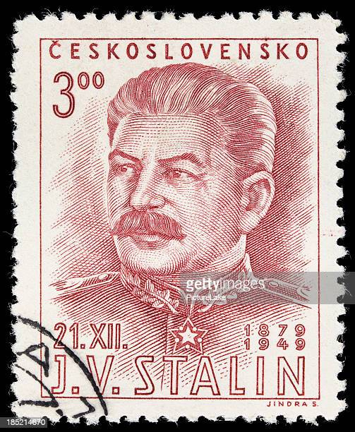 czechoslovakia joseph stalin postage stamp - joseph stalin stock pictures, royalty-free photos & images