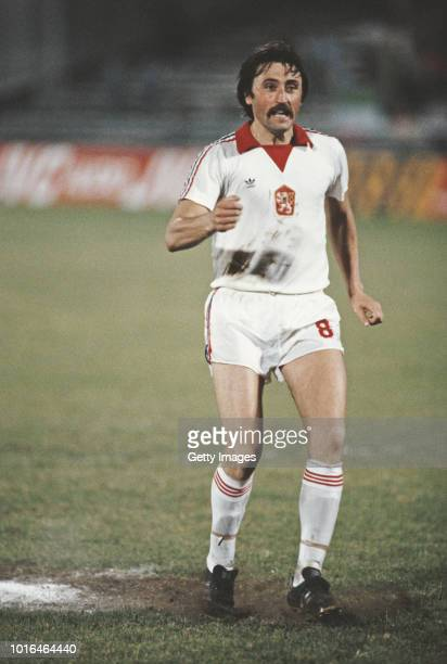 Czechoslovakia player Antonin Panenka scores a penalty kick during the 1980 UEFA European Championships penalty shoot out 98 victory against Italy in...
