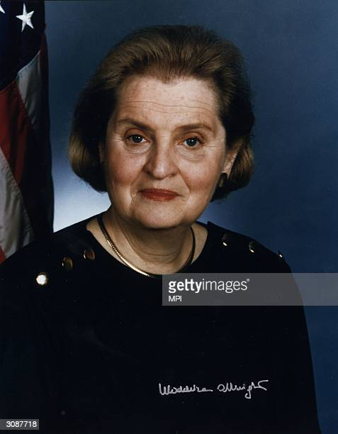 Czechoslovakian born American politician Madeleine Albright former US representattive to the United Nations she became Secretary of State in the...