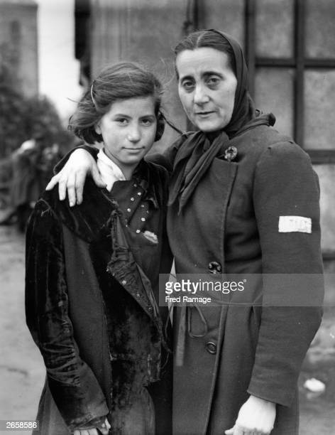 A Czechoslovakian Jewish mother and her 11yearold daughter who was forced to work 11 hours a day in a German munitions factory at the concentration...