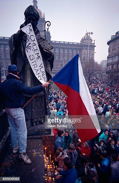 Czechs Celebrate the Downfall of Communism