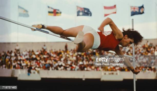 Czeh high jumper Miloslava Rezkova competes for Czechoslovakia to finish in first place to win the gold medal in the Women's high jump event at the...