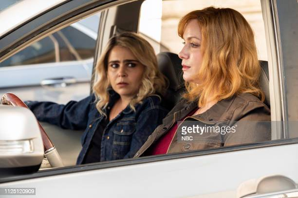 GIRLS 'I'd Rather Be Crafting' Episode 201 Pictured Mae Whitman as Annie Marks Christina Hendricks as Beth Boland
