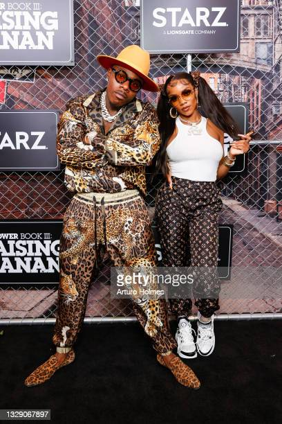 "Da Baby and KayyKilo attend the ""Power Book lll: Raising Kanan"" New York Premiere at Hammerstein Ballroom on July 15, 2021 in New York City."