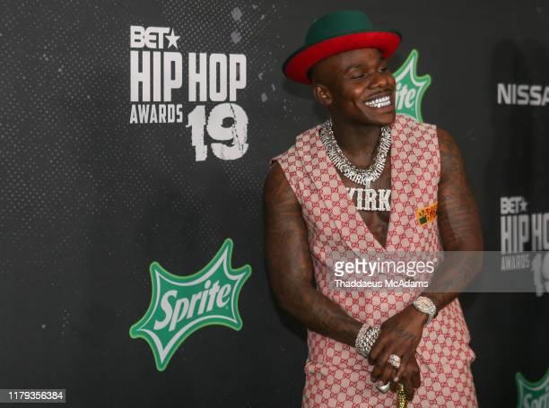Da Baby arrives to the 2019 BET Hip Hop Awards on October 05 2019 in Atlanta Georgia