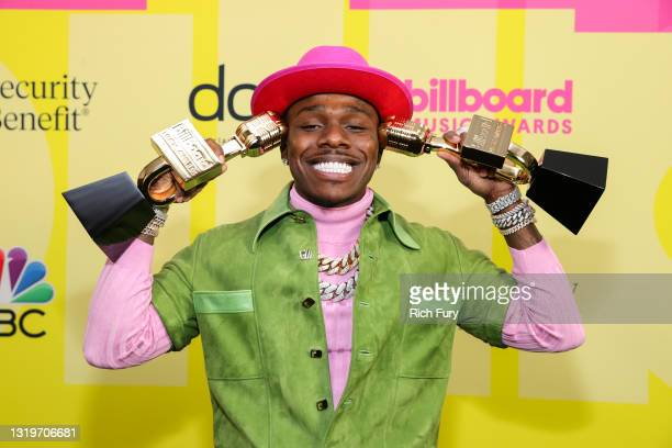Da Baby, Winner of the Top Streaming Song Award poses backstage for the 2021 Billboard Music Awards, broadcast on May 23, 2021 at Microsoft Theater...