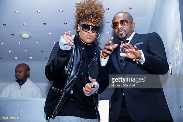 Da Brat and Jermaine Dupri attend 'The Rap Game' screening at Suite Food Lounge on January 1 2016 in Atlanta Georgia