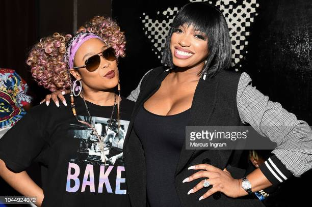 Da Brat and Porsha Williams attend WE tv Celebrates The Return Of Growing Up Hip Hop Atlanta at Club Tongue Groove on October 2 2018 in Atlanta...