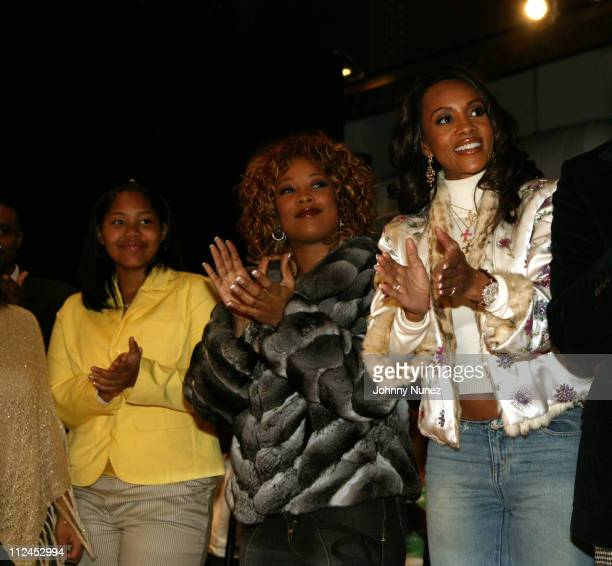 Da Brat and Vivica A Fox during Olympus Fashion Week Fall 2005 Luxe Romance Front Row and Backstage at Metropolitan Altman in New York City New York...