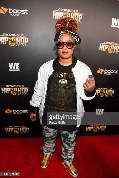Da Brat attends Growing Up Hip Hop Atlanta season 2 premiere party at Woodruff Arts Center on January 9 2018 in Atlanta Georgia
