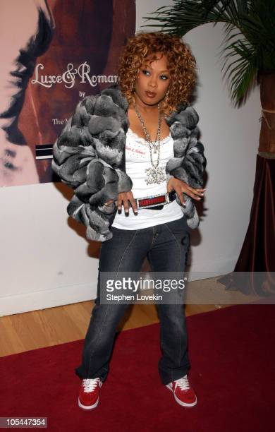 Da Brat during Olympus Fashion Week Fall 2005 Luxe Romance Front Row at The Altman Building in New York City New York United States