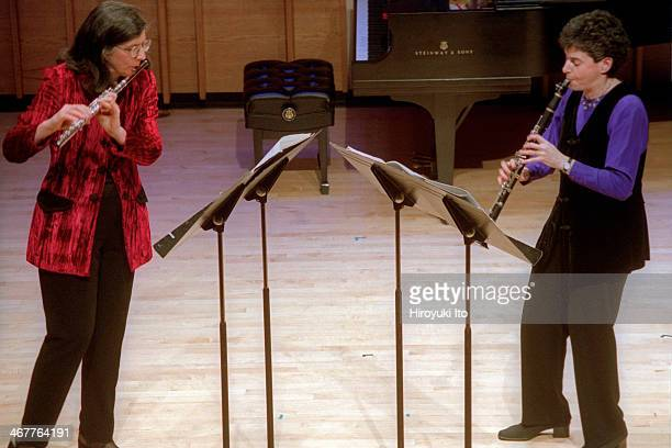 Da Capo Chamber Players performing at Merkin Concert Hall on Tuesday night, January 22, 2002.This image:From left, Patricia Spencer and Jo-Ann...