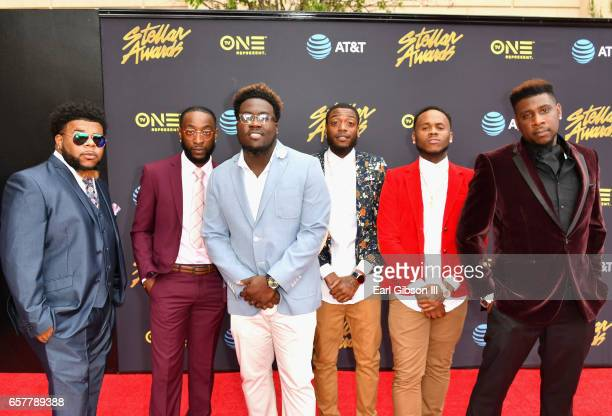 Da Chosen Brothaz arrive at the 32nd annual Stellar Gospel Music Awards at the Orleans Arena on March 25, 2017 in Las Vegas, Nevada.