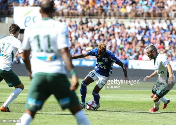 Da Costa Joiao 29 during the French L1 football match between Strasbourg and SaintEtienne on August 19 2018 at the Meinau stadium in Strasbourg...