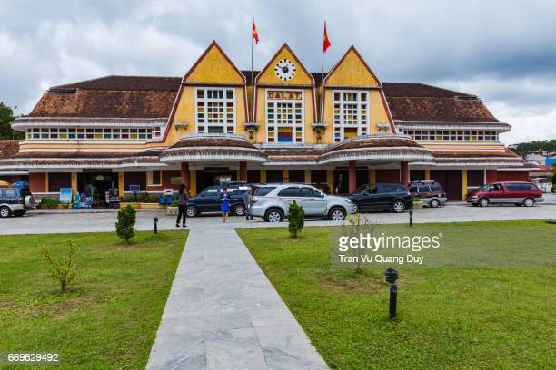 Da Lat train station is a famous tourist destination of Dalat city, with ancient ships.