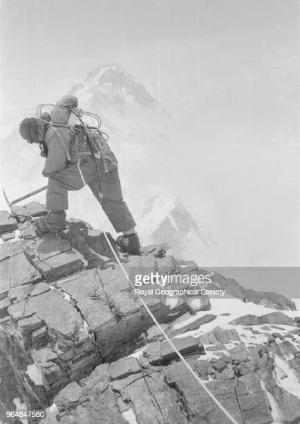 Da Namgyal at dump on South East ridge established at 27350 feet Nepal 26th May 1953 Mount Everest Expedition 1953