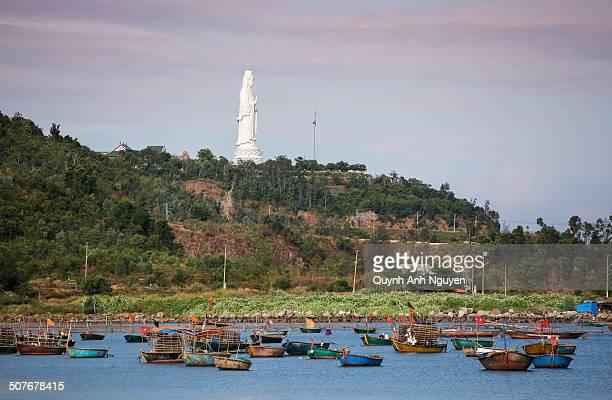 da nang bay, son tra peninsula, vietnam - bodhisattva stock pictures, royalty-free photos & images
