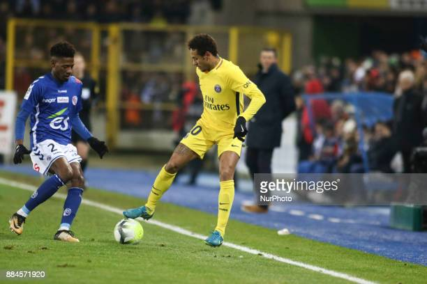 Da silva Santos Junior Neymar during the French L1 football match between Strasbourg and Paris SaintGermain at the Meinau Stadium in Strasbourg...